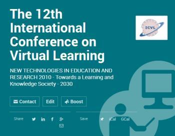 """Proiectele de e-Learning ICVL și CNIV 2017 se vor desfășura la Facultatea de Inginerie, Universitatea """"L. Blaga"""" din Sibiu"""
